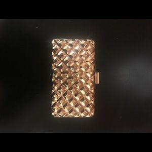 Handbags - Gold box clutch